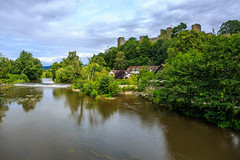 Ludlow Castle (microwyred) Tags: ludlow castle architecture buildingexterior builtstructure cultures famousplace greencolor history landscape nature old outdoors river summer tree water