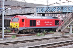 Skip Thunder (JohnGreyTurner) Tags: br rail uk railway train transport doncaster yorkshire lner db dbs dbc ews 67 class67 skip thunderbird
