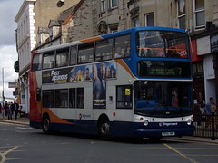 Stagecoach TransBus Trident (TransBus ALX400) 18159 PX54 AWW (Alex S. Transport Photography) Tags: bus outdoor road vehicle stagecoach stagecoachmidlandred stagecoachmidlands alx400 alexanderalx400 dennistrident trident transbustrident transbusalx400 18159 route7 px54aww