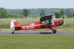 G-BZHU (IndiaEcho) Tags: light england canon eos fly airport general britain aircraft aviation air buckinghamshire aeroplane civil airfield in 2019 turweston 1000d sport wag trainer aero gbzhu