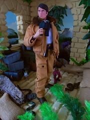 A quick survey (Blondeactionman) Tags: bamhq gijoe major mike power atomic man repro diorama dinosaur valley playscale one six scale doll photography