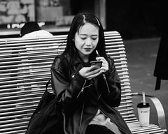 eCig (McLovin 2.0) Tags: ecigarette vape candid portrait smoking girls style urban city melbourne bw monochrome olympus em1 45mm street streetphotography