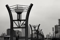 Lights (Abhay Parvate) Tags: 台場 daiba tokyo 東京 cityscape city blackandwhite pattern architecture