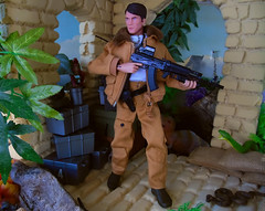 mission Recon (Blondeactionman) Tags: bamhq gijoe major mike power repro atomic man diorama dinosaur valley playscale one six scale doll photography