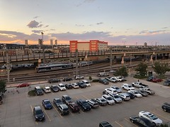 RTD train from Coors Field (looper23) Tags: baseball colorado rockies mlb arizona diamondbacks coors field sunset sky denver 2019 august game ballpark