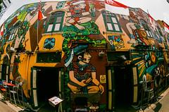 Grafitti on fisheye (Thanathip Moolvong) Tags: nikon f2 fuji c200 negative film grafitti fisheye