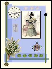 vintage (ladybumblebee) Tags: digitalart collage layers vintage digitalcollage