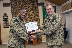 CLDJ Reenlistment (NavyOutreach) Tags: cldj camplemonnier djibouti navy usnavy usn sailors usarmy army usa soldiers servicemembers forwarddeployed hoa eastafrica africa cjtfhoa combinedjointtaskforcehornofafrica navyexpeditionarymedicalfacility emf goosecreek sc