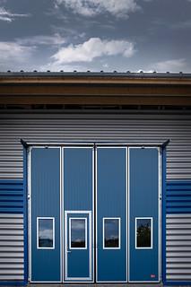 Folding doors external opening