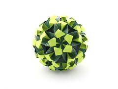 Junia (variation) (ronatka) Tags: green whitebackground rectangle variation modularorigami kusudama junia ef50mmf14usm nataliaromanenko rectangle1sqrt3 inexplore
