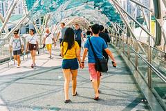 Helix Bridge (Thanathip Moolvong) Tags: nikon s3 fuji c200 negative film people helix bridge