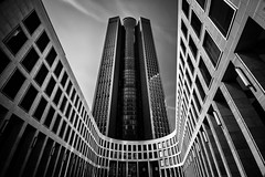 Tower 185.1 (s.W.s.) Tags: frankfurt germany deutschland city architecture building urban sky architectural skyscraper tower185 longexposure neutraldensity blackandwhite abstract nikon lightroom