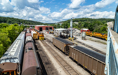 Welcome to Butler Yard (Brandon.H.Photography.) Tags: train trains transportation yard butler pennsylvania pa canon 6dmk2 6d mark 2 clouds hills tree trees busy emd bprr btri sd70m2 pw providence worcester buffalo pittsburgh railroad railway railroads rail railfan railfanning fan fanning freight sky light flickr color colors green