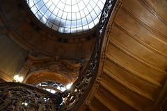 wooden stairs (Hayashina) Tags: texture design wooden ukraine lookingup staircase sundaylights