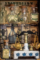 Apothecary (Maisiebeth) Tags: macro printedword apothecary graphic45 scales science chemistry craft art vintage