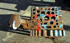 IMG_2159_Kopie (fritzenalg) Tags: farbreste peelingpaint farbklecks abblätterndefarbe verfall abstrackt abstract detail rost rust rusty eisen metall oxidation