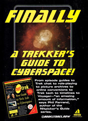 A Trekker's Guide to Cyberspace! 1995 ad (gameraboy) Tags: vintage 1995 1990s startrek cyberspace internet ad ads advertising advertisement vintagead vintageads
