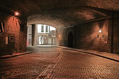 French Ordinary Court 2 (Croydon Clicker) Tags: french huguenots historic underground passage alley footpath tunnel vault lights cityoflondon london nikon tokina