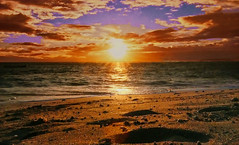 CORSICA - Sunset (Jacques Rollet (Little Available)) Tags: corsica sunset couchant mer sea sun soleil plage nuage cloud ciel sky beach eau water groupenuagesetciel