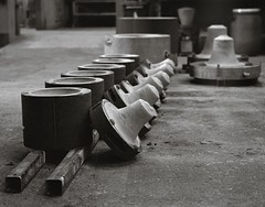 Molds in the bell foundry (Geir Bakken) Tags: mold bell foundry blackandwhite bw mamiya mamiyarb67 film filmisnotdead filmphotography 120film vintagecamera analog analogphotography ilford ilfordsfx200 mediumformat