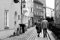 together (Ralaphotography) Tags: black white photography street life old town city august germany urban walking everyday canon summer autumn fall people lady couple