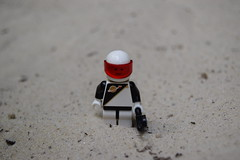 Character Scene: - Space Police Trooper. (Working hard for high quality.) Tags: police space lego character scene adventure theme classic fiction science