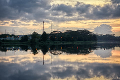 The Reservoir Clouds (henriksundholm.com) Tags: landscape nature reservoir lowerseletarreservoir lake reflections sunset clouds sky trees shadows hdr singapore southeast asia