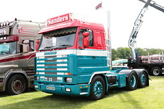 Sanders International Scania 143M M500EBS Malvern Truckfest 2019 (davidseall) Tags: sanders international scania 143m m500ebs malvern truckfest 2019 m500 ebs show vabis v8 500 truck lorry tractor unit artic large heavy goods vehicle lgv hgv haulage transport worcestershire uk