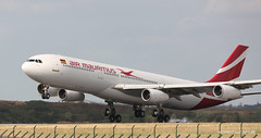 Airbus A340-300 Air Mauritius (Moments de Capture) Tags: airbus a340300 340 airmauritius aircraft plane avion aeroport airport spotting lfpg cdg roissy charlesdegaulle onclejohn canon 5d mark3 5d3 mk3 momentsdecapture