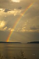 Rainbow near sunset (wfgphoto) Tags: barharbor maine rainbow sunset color water clouds