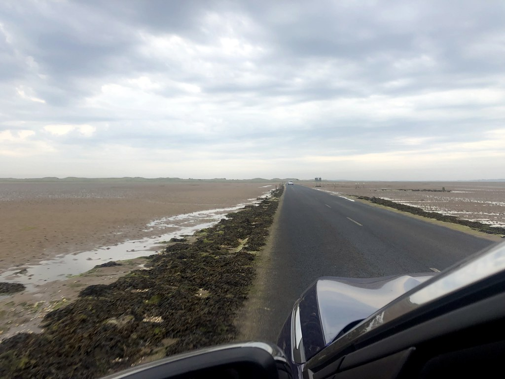 Driving on the Lindisfarne Causeway
