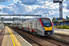 755418 - Cambridge North - 13/08/19. (TRphotography04) Tags: greater anglia stadler 755418 departs cambridge north working 1k80 1710 norwich service