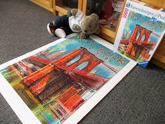 New York (pefkosmad) Tags: jigsaw puzzle hobby leisure pastime used secondhand complete 1000pieces ravensburger retronewyork patrickreidobrien art tedricstudmuffin teddy ted bear animal toy cute cuddly fluffy plush soft stuffed