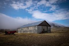 The Fog (bernd obervossbeck) Tags: fog nebel wolken clouds barn scheune berg mountain feld field himmel sky island iceland landscape landschaft farm fujixt1 xf1855mmf284rlmois