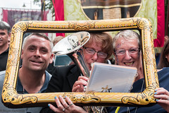 Durham  Miners Gala 2019 (Cerdic Elesing) Tags: sheila tenorhorn england photobomb thurcroftband durhamminersassociation ba thornleylodge countydurham brassband durham frame banner object