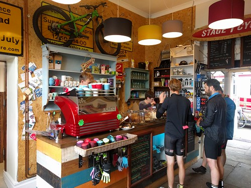 The Firebox Cafe and cycle shop