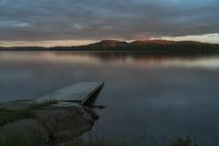 Volgsjön (Diana Klawitter) Tags: vollmond sonnenuntergang sunset vilhelmina vildmarksvägen