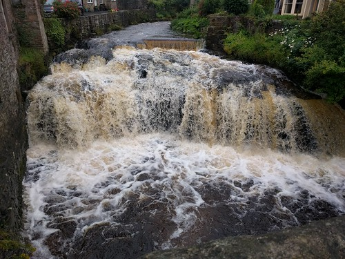 the River in full flow through Hawes