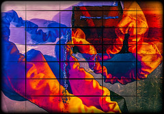 Abstract - Merged Images Under A Grid (KVSE) Tags: abstract merge grid artsy art abstractart colours colourful