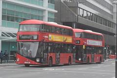 ML LT109 and AL LT231 @ Warren Street tube station (ianjpoole) Tags: metroline london wright borismaster ltz1109 lt109 arriva ltz1231 lt231 working route 390 victoria bus station archway 73 holles street oxford circus stoke newington common respectively