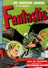 Fantastic #8 (1952), cover by Harry Harrison (gameraboy) Tags: fantastic 1952 1950s comics comicbook comicbookart art illustration vintage harryharrison