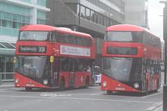AL LT837 and ML LT100 @ Warren Street tube station (ianjpoole) Tags: arriva london wright borismaster ltz1837 lt837 metroline ltz1100 lt100 warren street tube station