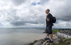 Looking wistfully out to sea at Criccieth (RedPlanetClaire) Tags: wales summer criccieth wistful sea sky