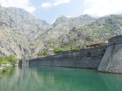 The fortified walls of the city of Kotor, UNESCO status.