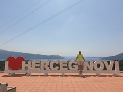 Passing by Herceg Novi, the gateway into the Bay of Kotor.