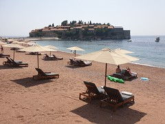 Hotel Aman Sveti Stefan's private Beach.