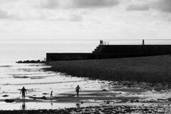 Criccieth silhouettes (RedPlanetClaire) Tags: wales summer criccieth silhouettes water sea beach