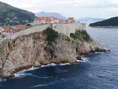 Walls protecting Dubrovnik.