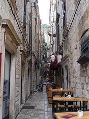 Alleyway as all alleys are in Dubrovnik.