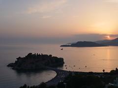 Sun sets over Riviera Montenegro